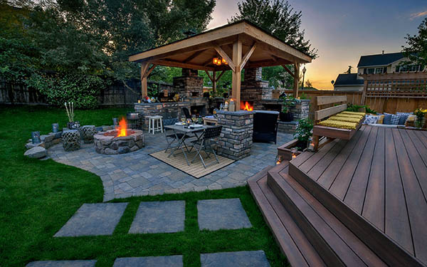 20 gazebos in outdoor living spaces paradise restored for Outdoor living spaces images
