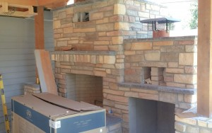 Fireplace Wall Stone work