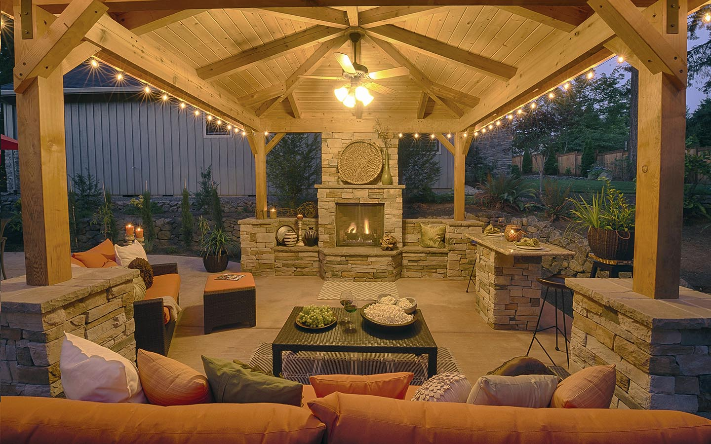 Canopy Living Room : Gazebos in outdoor living spaces paradise restored