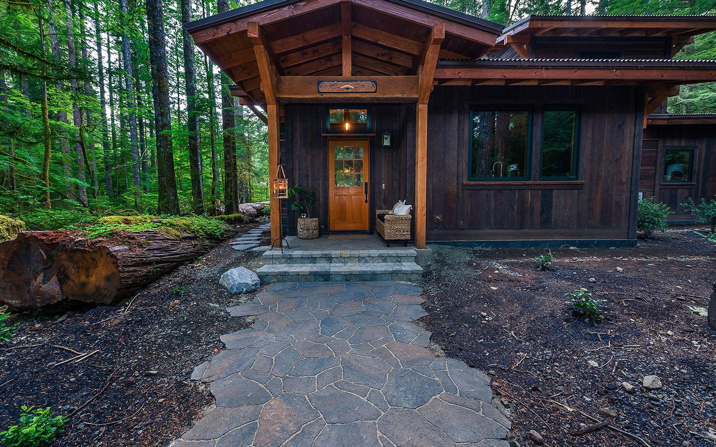 Nimmelman property paradise restored landscaping for Cabin landscaping