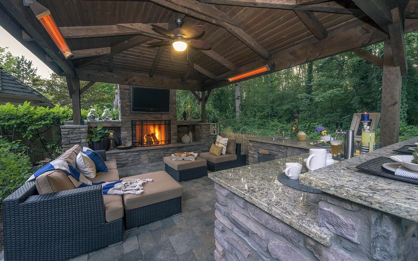 Outdoor Living Room Kitchen Paradise Restored Landscaping