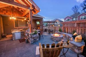 Private outdoor space for friends and family