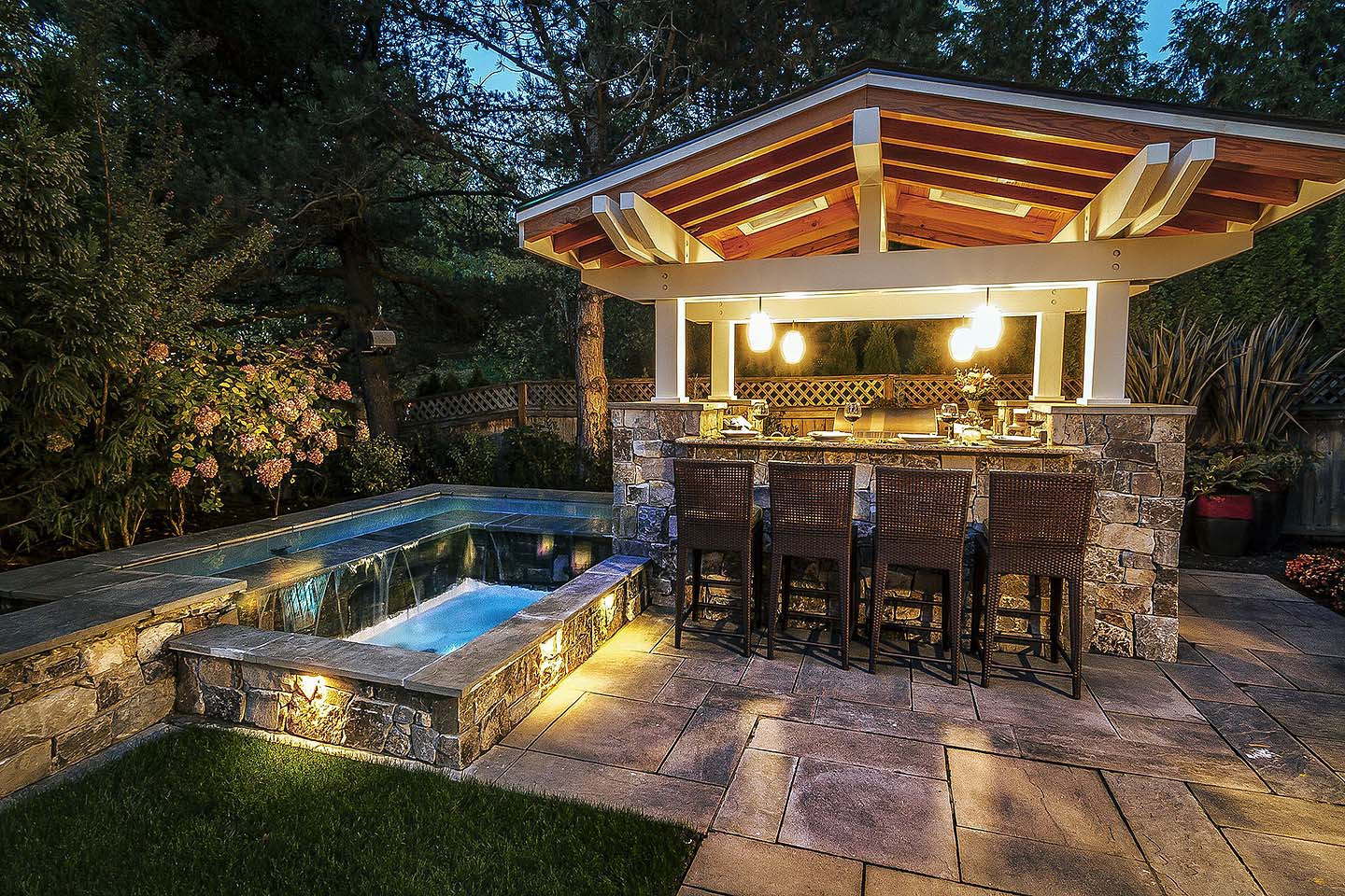 Outdoor Kitchen in Landscape Design