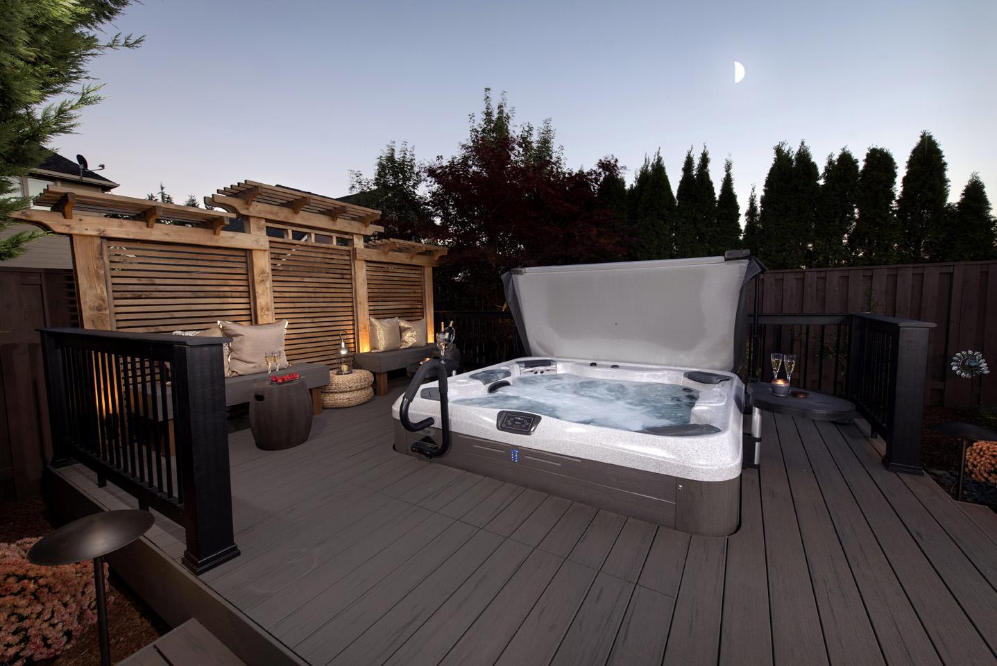 Hot Tub in landscape