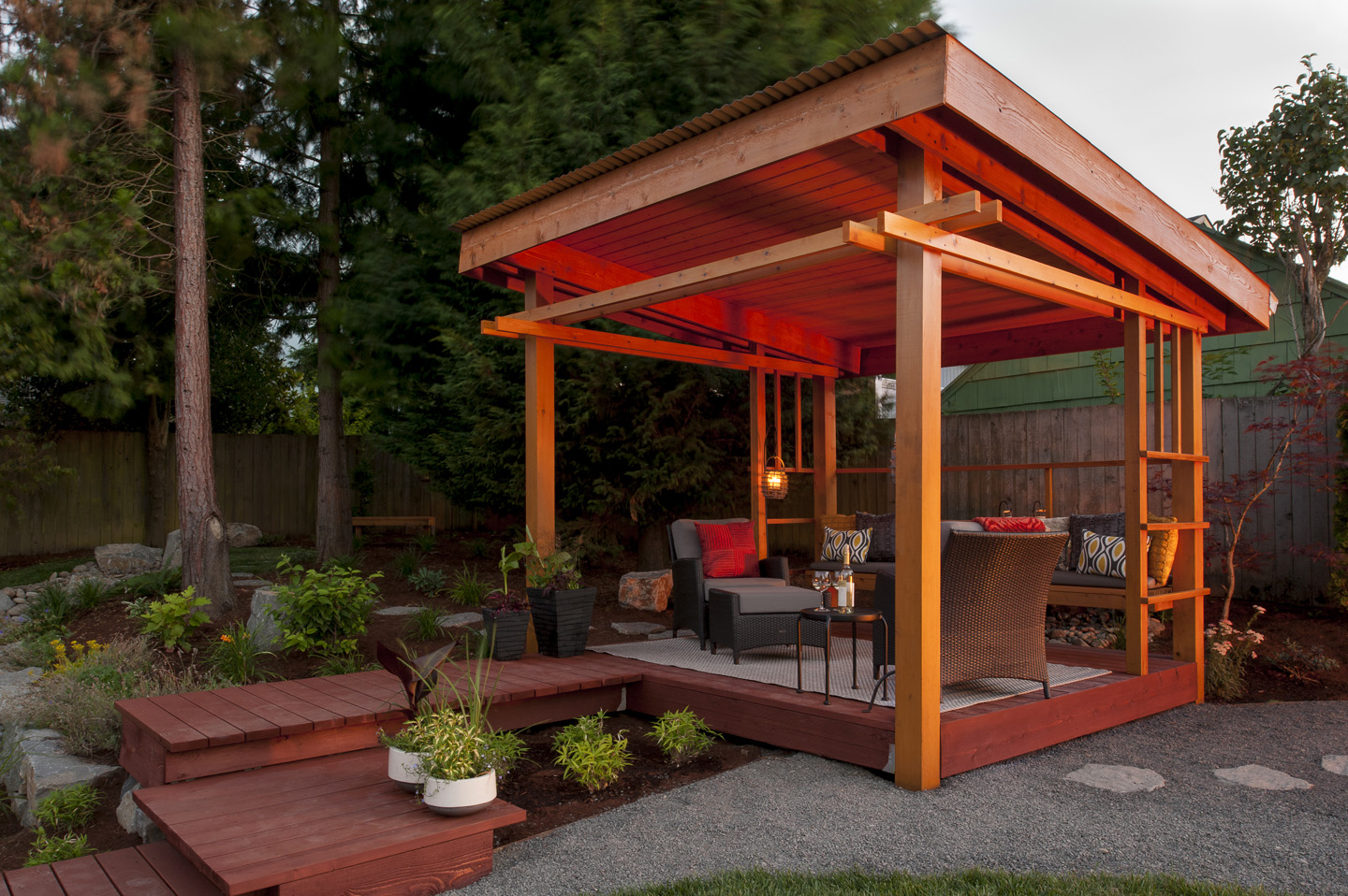 Lean-To Structure in Landscapes