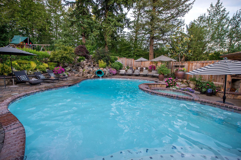 Pool in landscape design