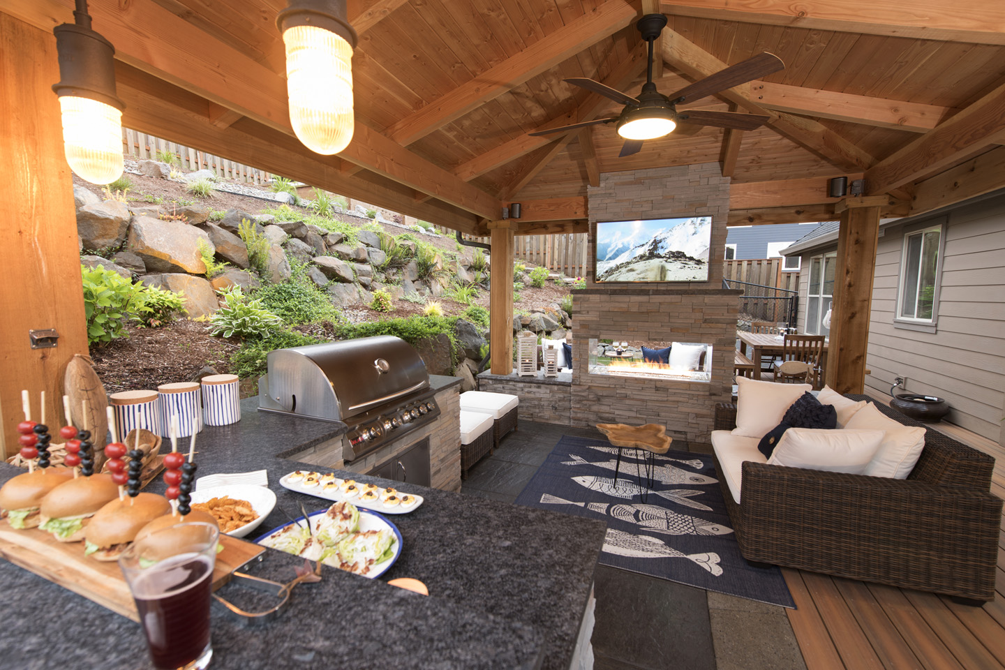 Outdoor Living Space Design outdoor living spaces - paradise restored landscaping