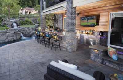 Retractable Awning in landscape design