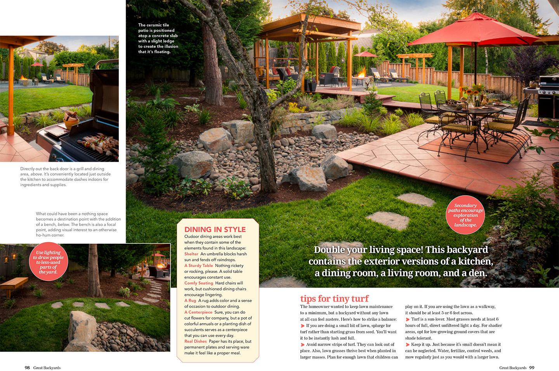 Great Backyards Magazine Showcases Our Landscape Design Paradise Restored Landscaping