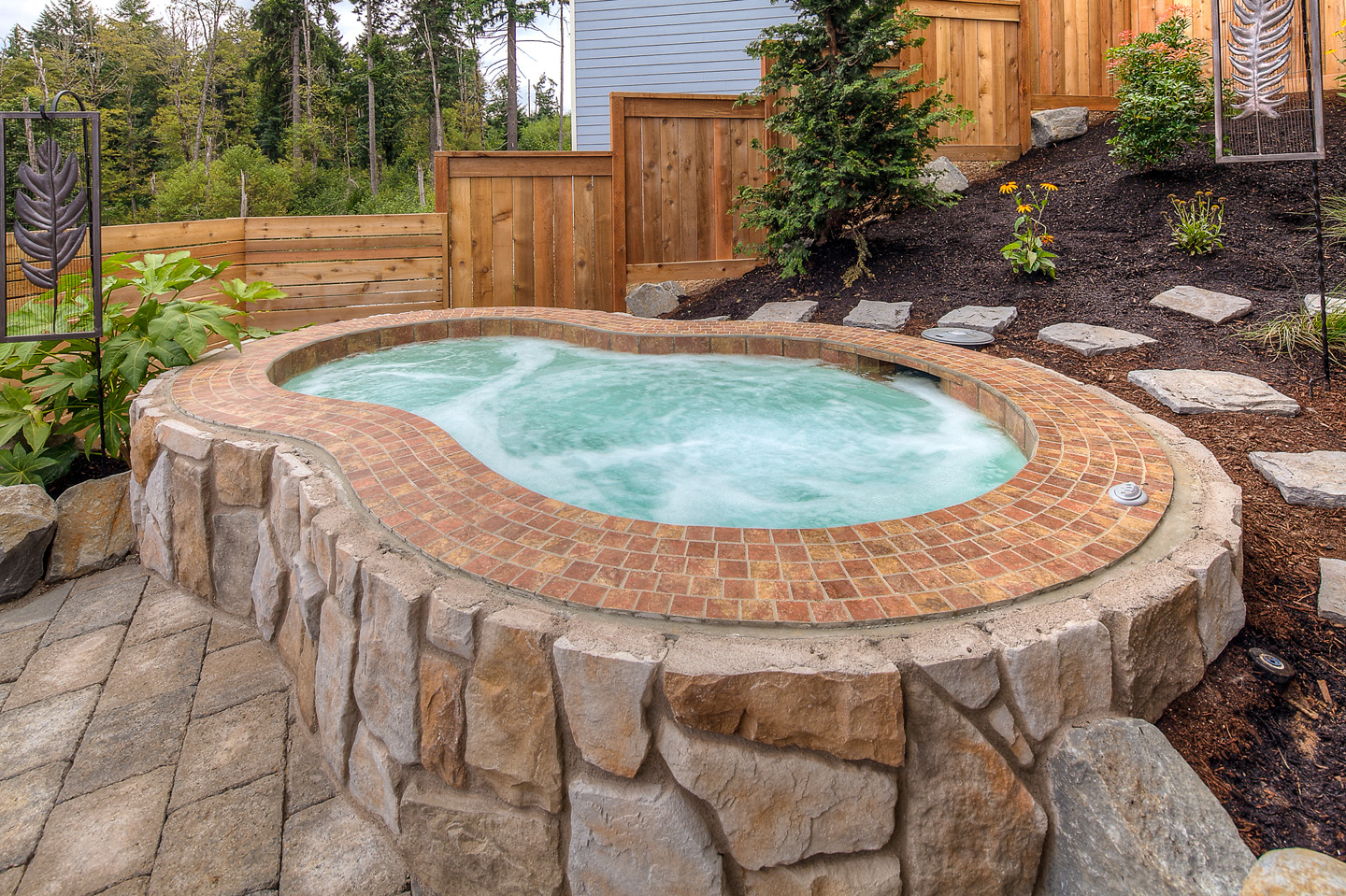 35 Hot Tubs In Landscapes Paradise Restored Landscaping